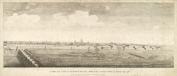 'A View of the City of Tanjour taken from a Bastion in the Little Fort'.  Engraving by B. Henry, 1776.  .  Published by A Dalrymple, 1778.